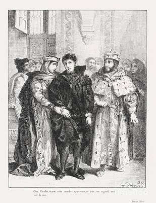 From Shakespeare Hamlet Print by Eugene Delacroix