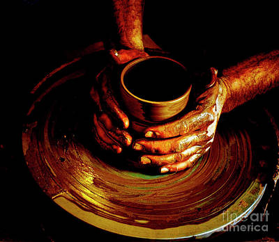 Fired Clay Photograph - From The Hands Of An Artist by Steven  Digman