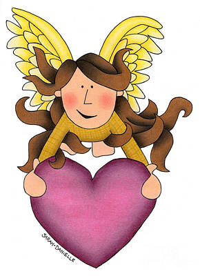 Seraphim Angel Drawing - From The Heart by Sarah Batalka