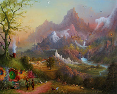 Tolkien Painting - From The Shire To The Sea by Joe  Gilronan