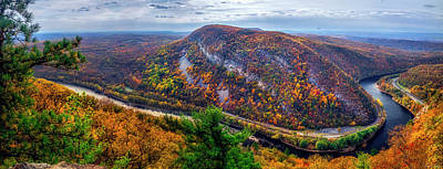 From The Top Of Mount Tammany Print by Mark Papke