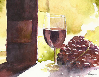 Winery Painting - From Vine To Glass by William Beaupre
