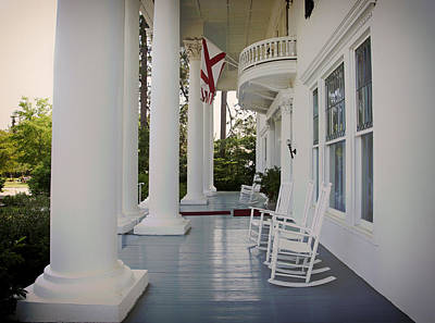 Rocking Chairs Photograph - Front Porch Of The Shorter Mansion - Eufaula Alabama by Mountain Dreams