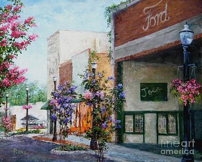 Arkansas Painting - Front Street by Virginia Potter