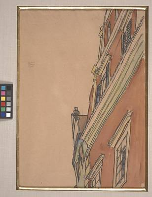 1890 Houses Painting - Front View Of A Building by Egon Schiele