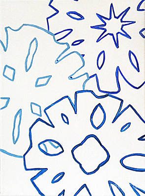 Abstract Handbag Drawing Painting - Frost N Flakes 1 by Jilian Cramb - AMothersFineArt
