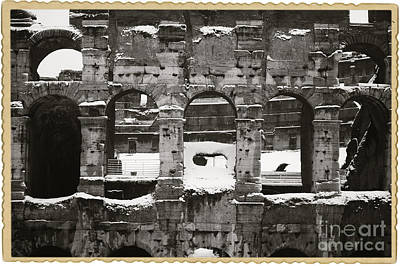 Frosted Colosseum In Rome Print by Stefano Senise