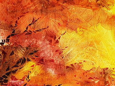 Abstract Movement Painting - Frosted Fire II by Irina Sztukowski