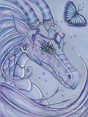 Friendly Drawing - Frosty Dragon by Renee Lavoie