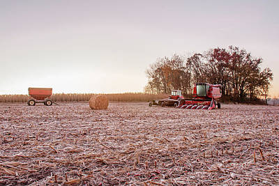 Agriculture Photograph - Frosty Harvest by Todd Klassy