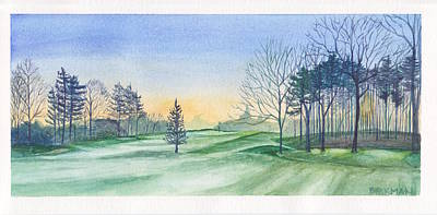 Golf Painting - Frosty Morning At Foxhills by Samuel Beckman