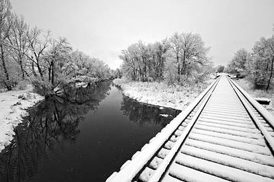 Frosty Morning On The Poudre Original by James Steele