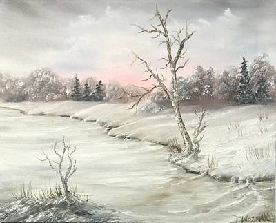 Mountain Landscape Painting - Frosty Winter Morning  by Justin Wozniak