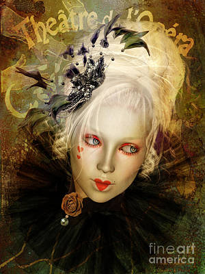 Hearts Digital Art - Frou Frou Lopera by Shanina Conway
