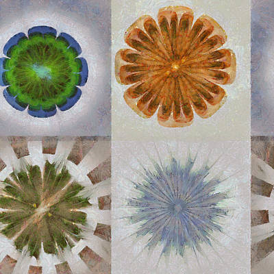 Merging Painting - Froufrou Reality Flower  Id 16164-103438-11790 by S Lurk