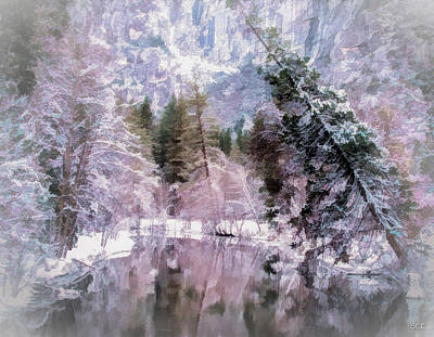 Yosemite National Park Mixed Media - Frozen In Pink by Susan Eileen Evans