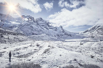 Canadian Rockies Photograph - Frozen In Time by Evelina Kremsdorf