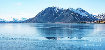 Nature Scene Mixed Media - Frozen Lake by Svetlana Sewell