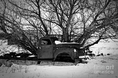Frozen Memories Bw Print by Chalet Roome-Rigdon