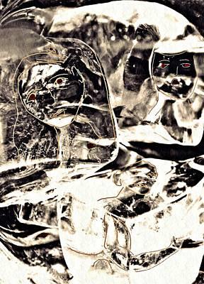 Abstract Digital Digital Art - Frozen by Sarah Loft