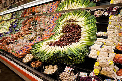 Food Stores Photograph - Fruit And Vegetable Section by Panoramic Images
