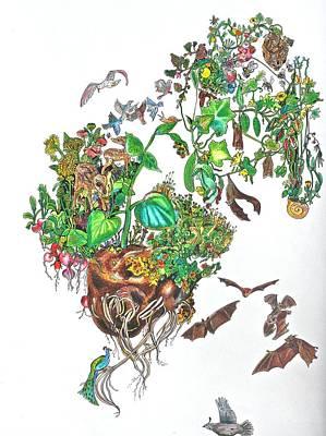 Fruit Bats Original by Sarah Holst