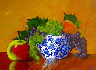 Fruit Bowl II Print by Pete Maier