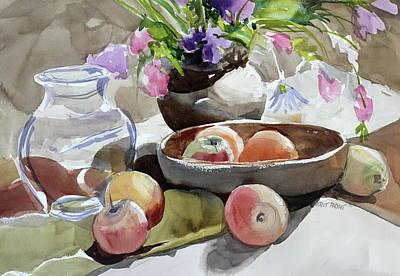 Pears Painting - Fruit Bowl by Kris Parins
