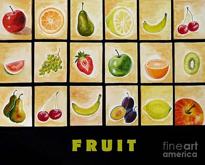 Fruit Print by Christine Huwer