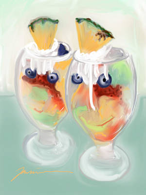 Fruit Cocktail Print by Jean Pacheco Ravinski
