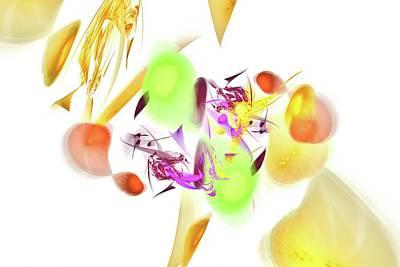 Mango Digital Art - Fruit Salad by Burtram Anton