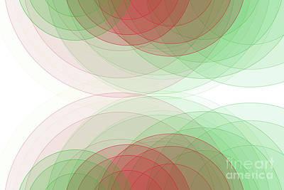 Digital Art - Fruit Semi Circle Background Horizontal by Frank Ramspott