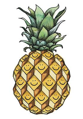 Pineapple Painting - Fruitful by Kelly Jade King
