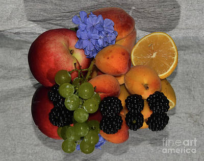 Fruits And Flower Print by Elvira Ladocki