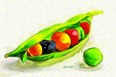 Freshness Digital Art - Fruits - Da by Leonardo Digenio