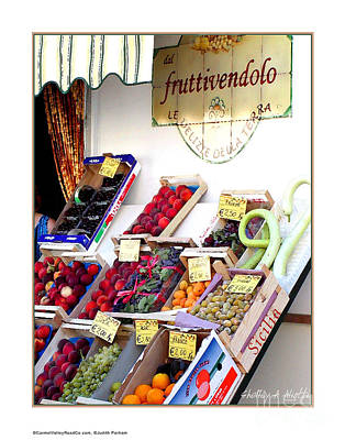 Fruittivendolo Print Print by Shelley A Aliotti