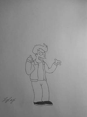 Fries Drawing - Fry by Larry Lefler
