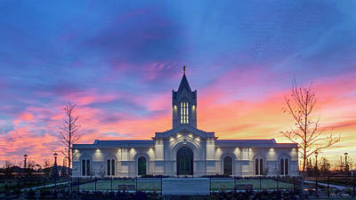 Ft. Collins Temple At Sunrise Print by Kelly C Jones