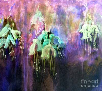 Julie Lueders Artwork Painting - Fuchsia Flowers  by Julie Lueders