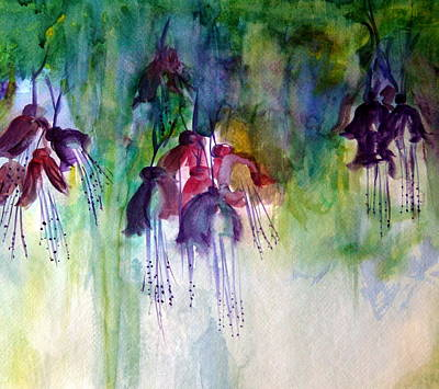Julie Lueders Artwork Painting - Fuchsia Fussy by Julie Lueders