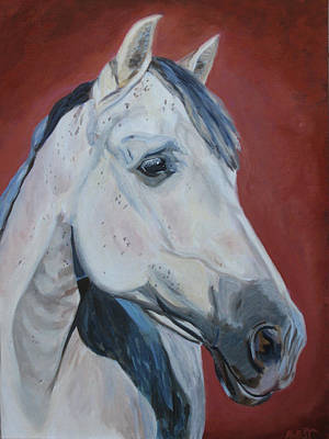 Horse Painting - Fuego by Anne West