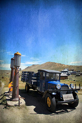 Old Trucks Digital Art - Fuelin' Up by Laurie Search