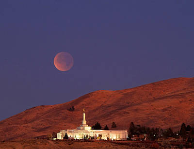 Full Lunar Eclipse Print by Donna Kennedy
