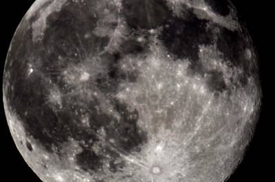 Full Moon 7-31-15 Print by Michelle McPhillips