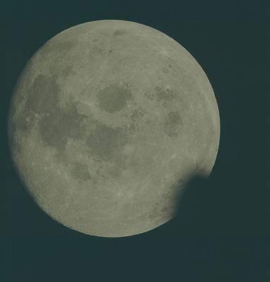 Earth Pyrography - Full Moon by Artistic Panda