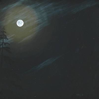 Constellations Painting - Full Moon Fever by Pono Abreu