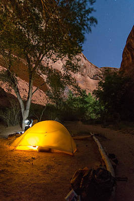 Red Rock Photograph - Full Moon In Coyote Gulch by Michael J Bauer