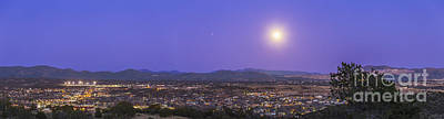 Silver City Photograph - Full Moon Rising Over Silver City, New by Alan Dyer