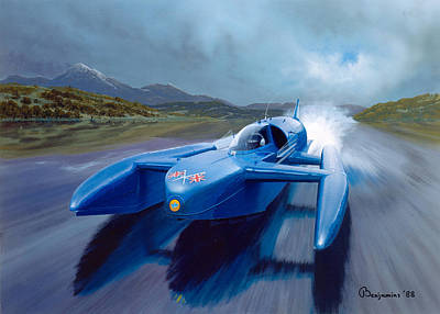 Record Breaker Painting - '' Full Power '' by Arthur Benjamins