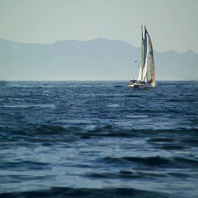 Huisken Digital Art - Full Sails by Lyle  Huisken